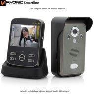 Draadloze videofoon met PIR motion detectie Vphonic smartline